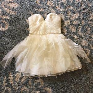 Sarah Seven Powdered Sugar Mini Dress sz 4 Laceup